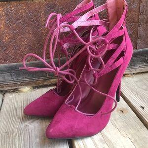 Charlotte Russe Stella Zip Back Heels